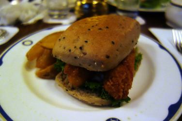 Fried Prawn Sandwich with Chips