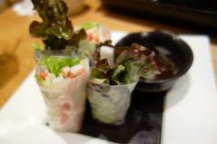 Crab Salad Rice paper Rolls with Dipping Sauce