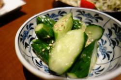 Japanese cucumber with sesame seeds
