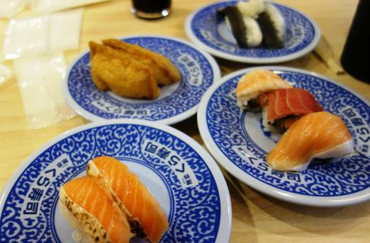 Salmon; Salmon, Maguro & Ebi; Inarizushi; Iwashi