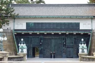 Gate outside Seimon-tetsubashi Bridge (Main Gate Bridge; Nijubashi)