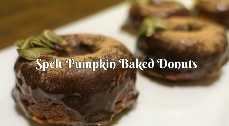 Spelt Pumpkin Baked Donuts