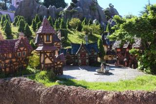 Belle's village and the Beast's castle from Beauty and the Beast