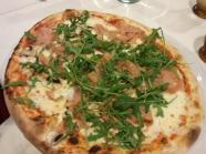Pizza with Proscuitto and Mushrooms