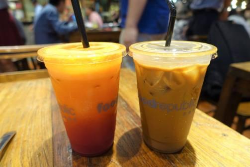 Fresh Juice and Coffee milk tea