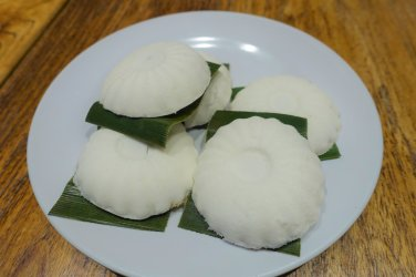Coconut and Peanut TuTu Kueh