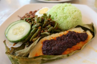 Nasi Lemak with Sambal Fish