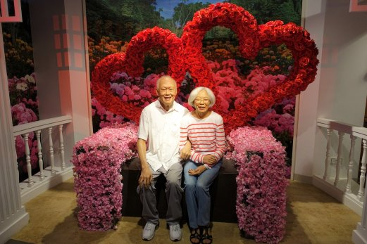 Mr and Mrs Lee Kuan Yew
