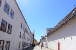 Row of buildings with Prison Chapel
