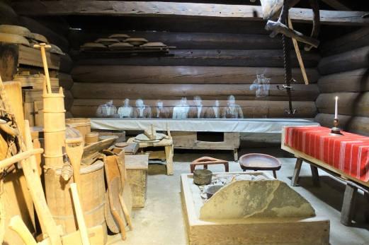 4 Open hearth farmhouse interior