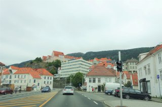 Driving north out of Bergen
