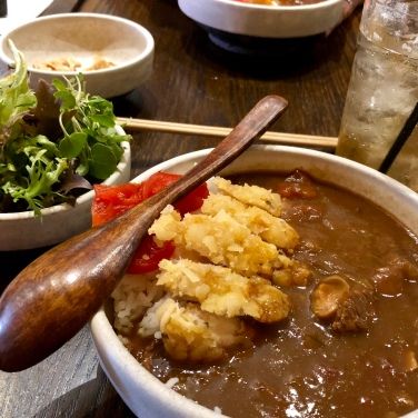 Tare infused Katsu Curry and Green Salad