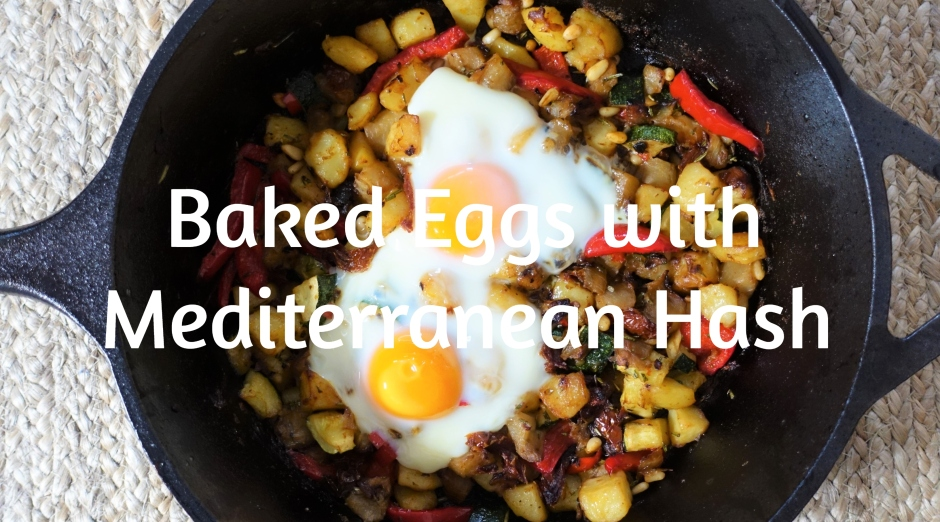 Baked Eggs with Mediterranean Hash – Live Eat Colour
