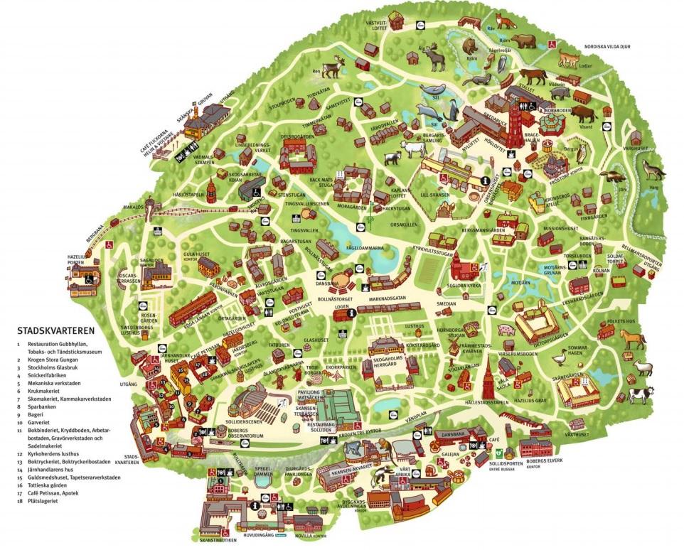 Skansen map